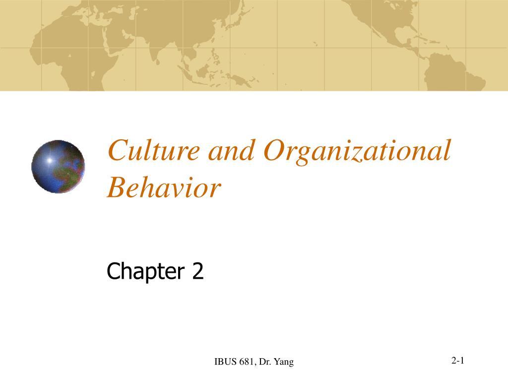 culture and organizational behavior l.