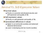 survival vs self expression values