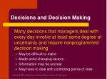 decisions and decision making6