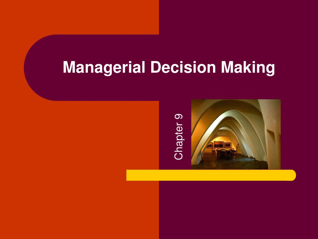 managerial decision making l.
