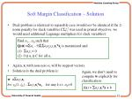 soft margin classification solution