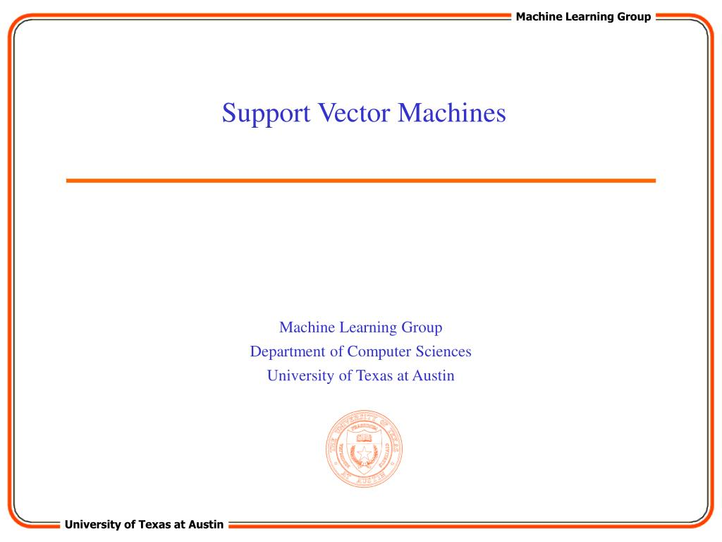 support vector machines l.