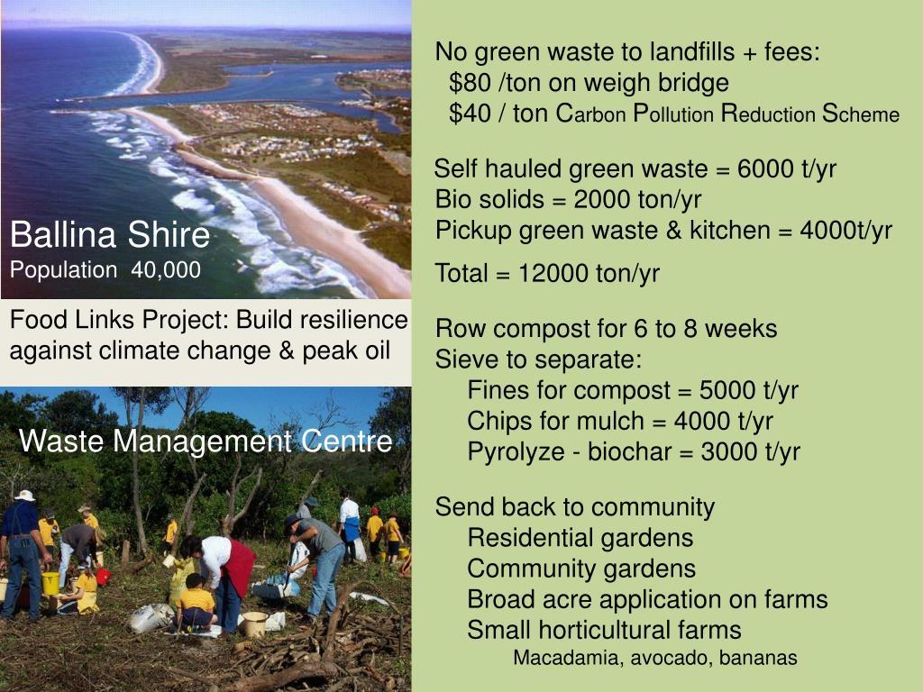 No green waste to landfills + fees: