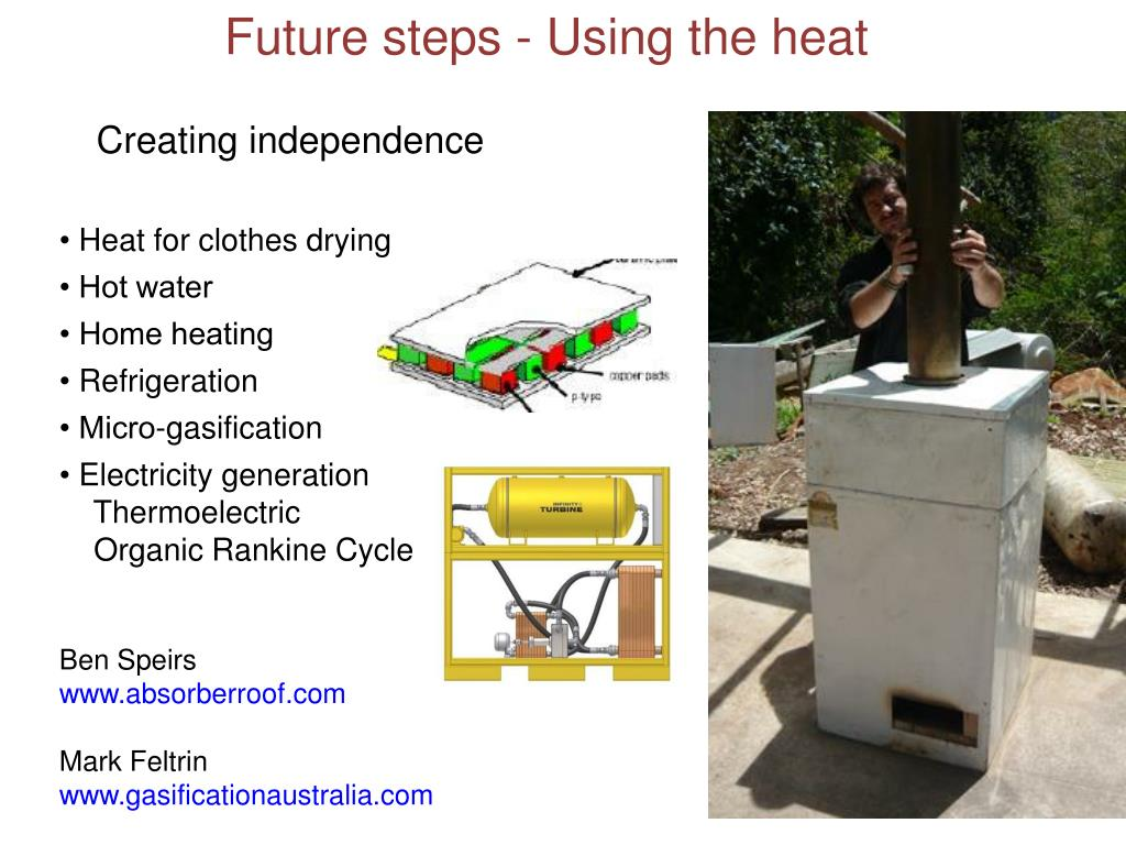 Future steps - Using the heat