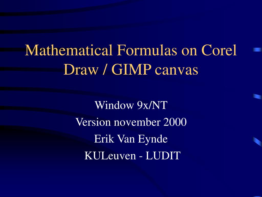 mathematical formulas on corel draw gimp canvas l.