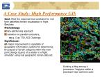 a case study high performance gis