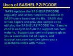 uses of sashelp zipcode