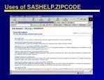 uses of sashelp zipcode23