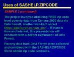 uses of sashelp zipcode30
