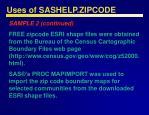 uses of sashelp zipcode32