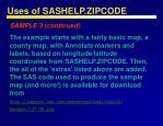 uses of sashelp zipcode44