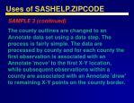 uses of sashelp zipcode47