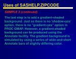 uses of sashelp zipcode50