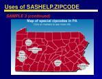 uses of sashelp zipcode51