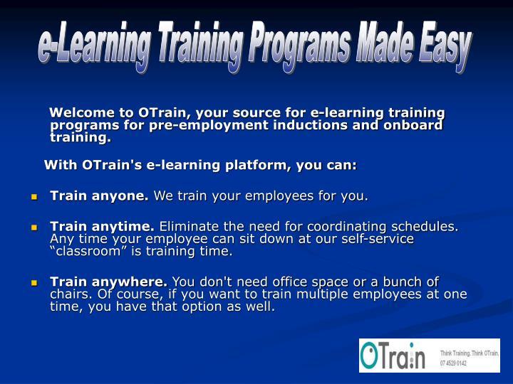 E-Learning Training Programs Made Easy