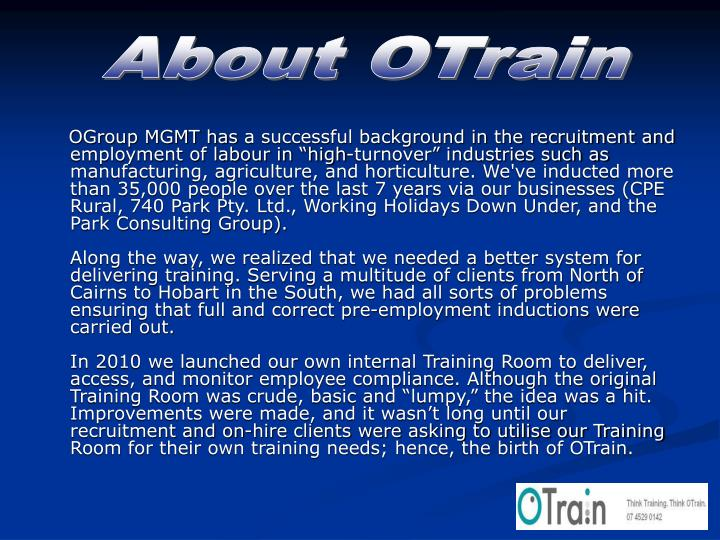 About OTrain