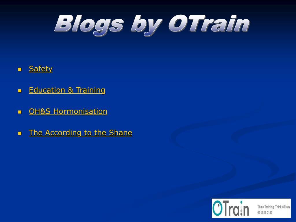 Blogs by OTrain