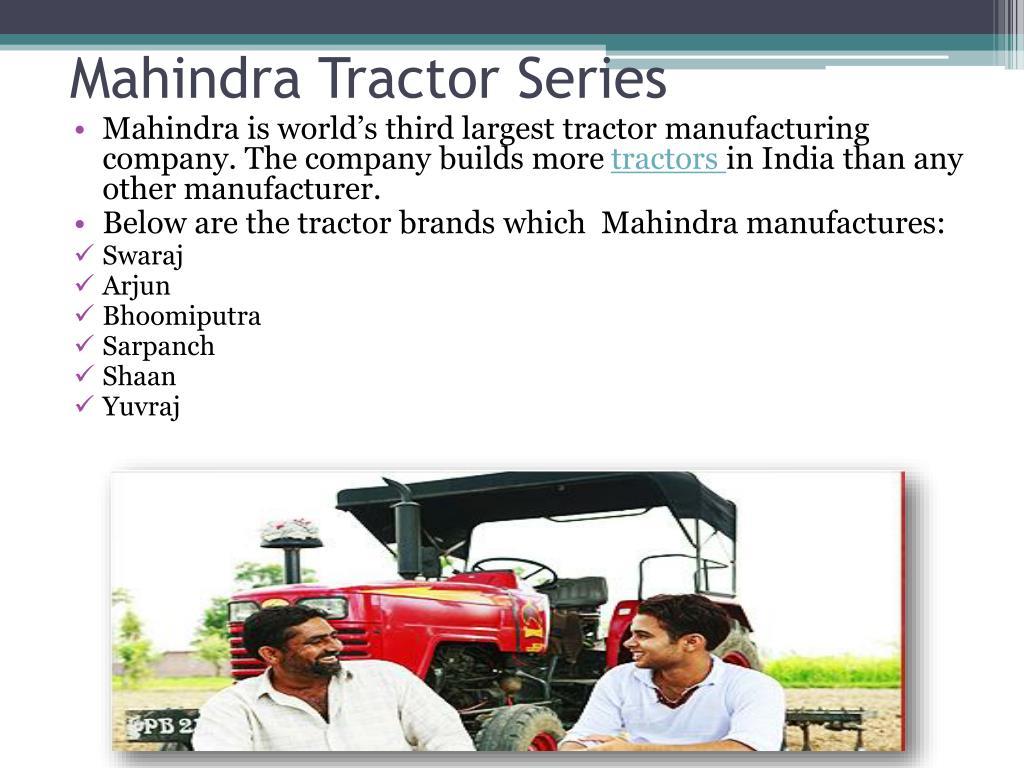 mahindra tractor series l.