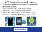 app design services hosting