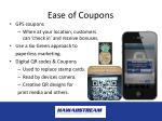 ease of coupons