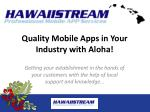 quality mobile apps in your industry with aloha