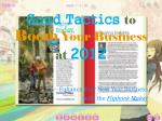 good tactics to boom your business at 2012