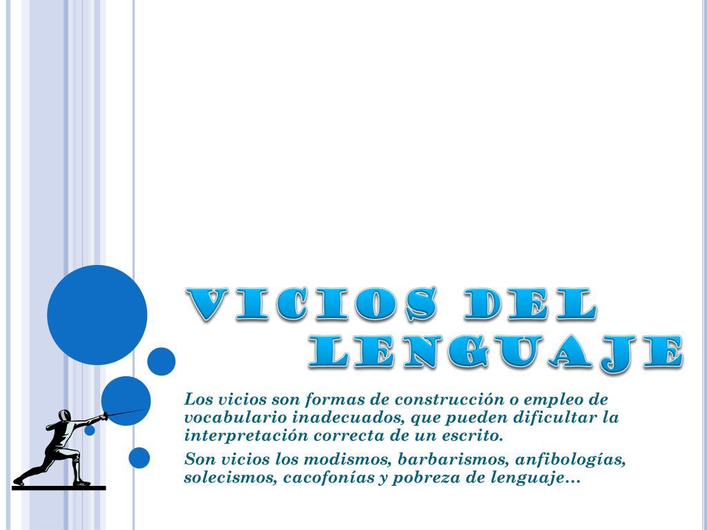 vicios del lenguaje l.