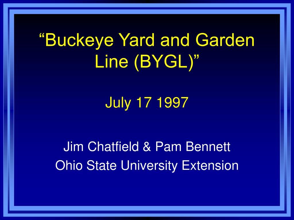 buckeye yard and garden line bygl july 17 1997 l.