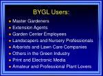 bygl users