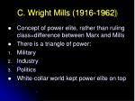 c wright mills 1916 196220