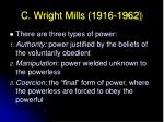 c wright mills 1916 196221