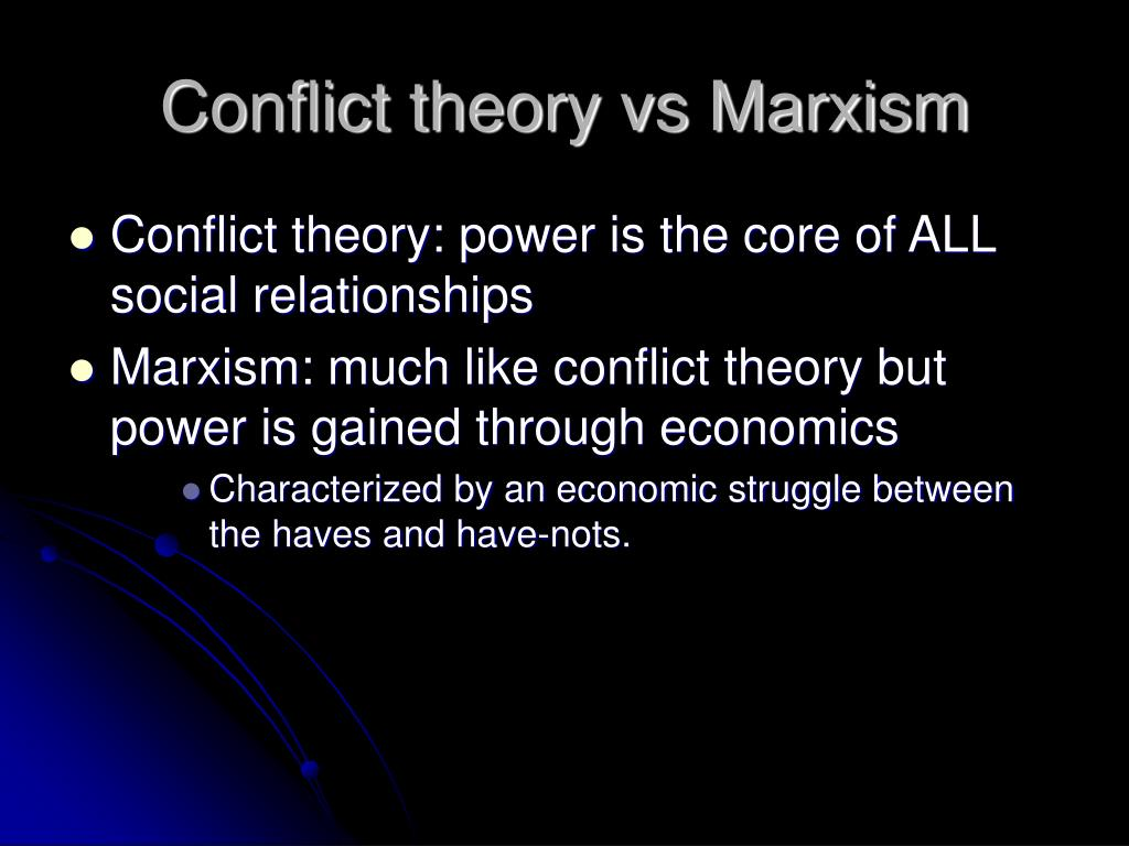 conflict theory of marx