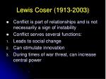 lewis coser 1913 200316