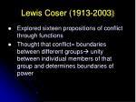 lewis coser 1913 200317
