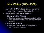 max weber 1864 1920