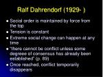 ralf dahrendorf 1929