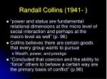 randall collins 1941