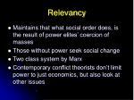 relevancy