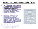 bureaucracy and modern social order