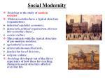 social modernity
