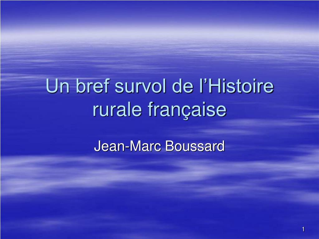 un bref survol de l histoire rurale fran aise l.
