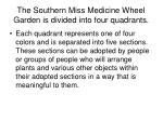 the southern miss medicine wheel garden is divided into four quadrants