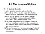 1 1 the nature of culture16