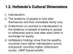 1 2 hofstede s cultural dimensions27
