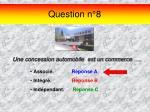 question n 8