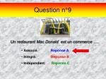 question n 9