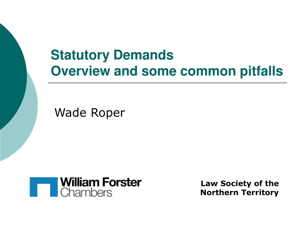 statutory demands overview and some common pitfalls l.
