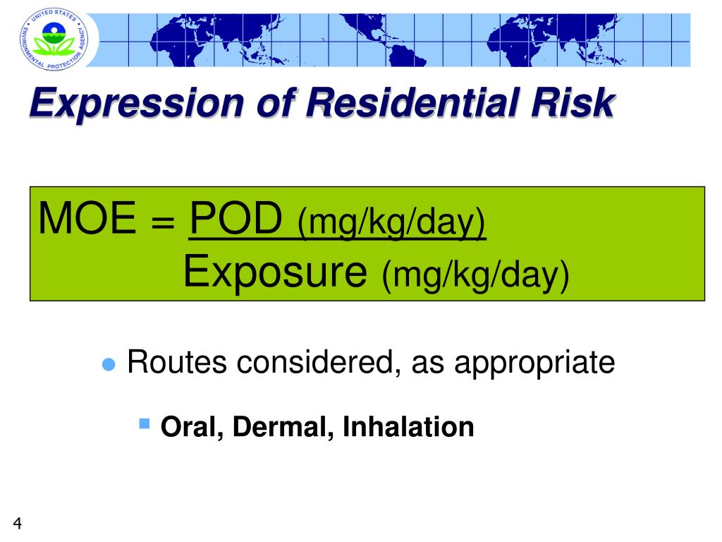 Expression of Residential Risk