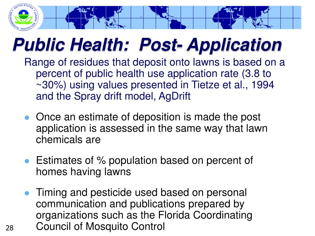 Public Health:  Post- Application