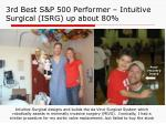 3rd best s p 500 performer intuitive surgical isrg up about 80